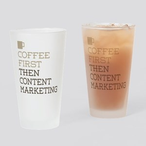 Content Marketing Drinking Glass