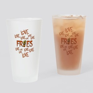 Love Love Fries Drinking Glass