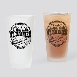 Mt. Rainier Old Circle Drinking Glass