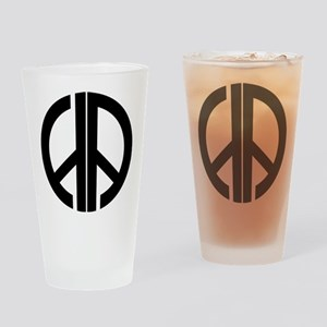 AA Peace Symbol Drinking Glass