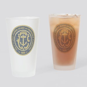 Vintage Rhode Island Seal Pint Glass