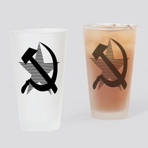 Soviet Hammer and Sickle Blac Drinking Glass