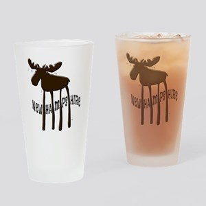 NH Chocolate Moose Drinking Glass