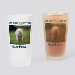 Vegan Love Drinking Glass