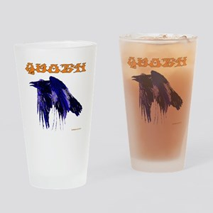 Quoth The Raven Drinking Glass