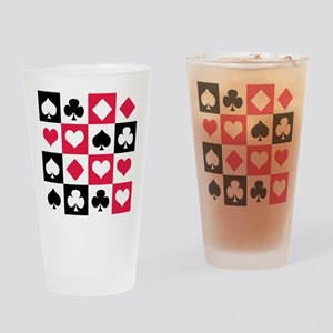 Suits Drinking Glass