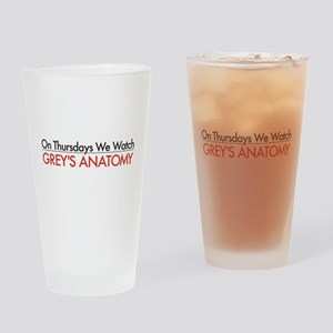 Grey's On Thursdays Drinking Glass