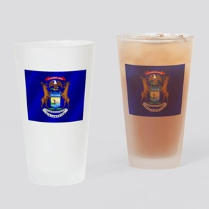 Michigan State Flag Drinking Glass