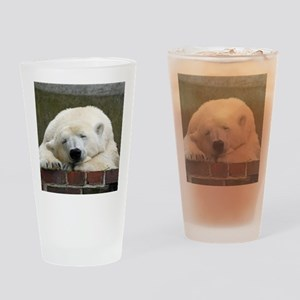 Polar bear 003 Drinking Glass