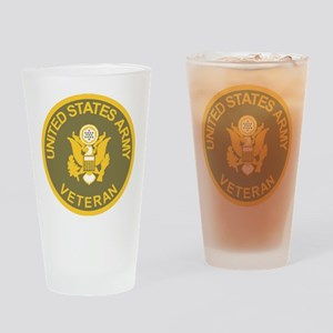 Army-Veteran-Olive-Gold Drinking Glass