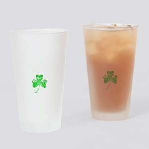 Lucky Shamrock -blk Drinking Glass