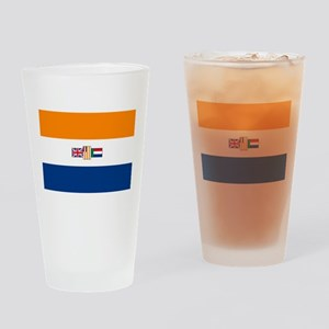 Oranje Blanje Blou - Flag of South Drinking Glass