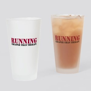 Running therapy red Pint Glass