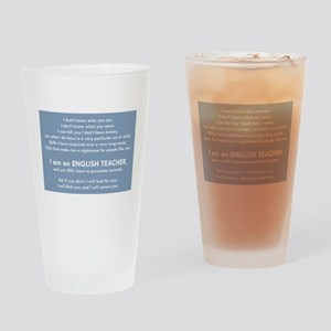 I Will Find You – Punctuation Drinking Glass