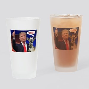 GOATS vote 4 TRUMP Witty Politics Drinking Glass