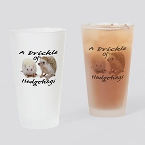 Prickle of Hedgehogs Drinking Glass