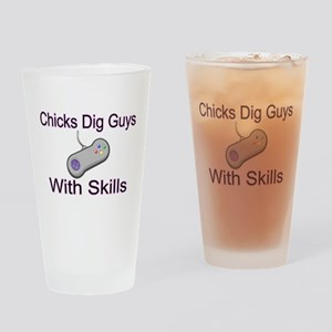 Guys With Skills Pint Glass