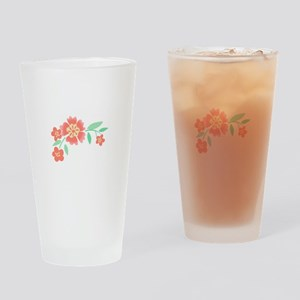 Floral Accent Drinking Glass