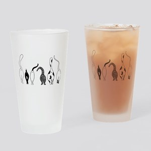 Cat Butts Drinking Glass