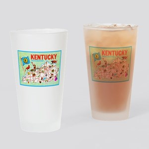 Kentucky Map Greetings Drinking Glass