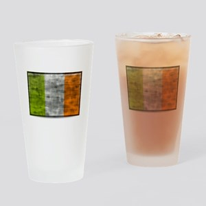 Dirty Ireland Flag Drinking Glass