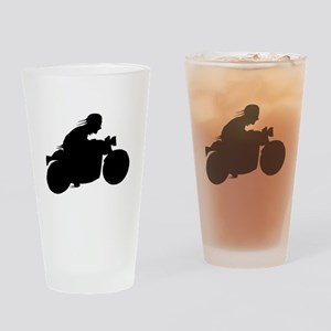 Motorcycle Biker Silhouette Drinking Glass