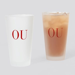 OU-bod red2 Drinking Glass