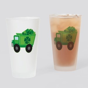 St Patricks Day Irish Truck Drinking Glass