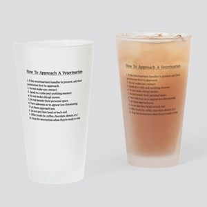Approaching A Veterinarian Drinking Glass