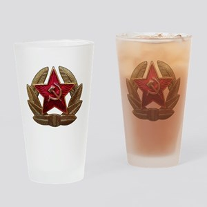 Soviet Soldier Insignia Drinking Glass