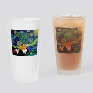 Corgi Starry Starry Night Drinking Glass