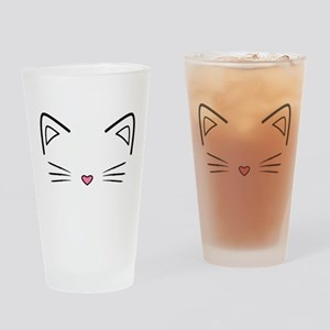 Cat Whiskers Drinking Glass