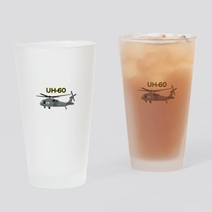 Uh Sixty Black Hawk Drinking Glass