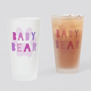 Baby bear - baby girl Drinking Glass