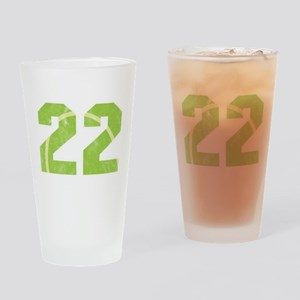 Tennis Ball 22 th Birthday Celebrat Drinking Glass