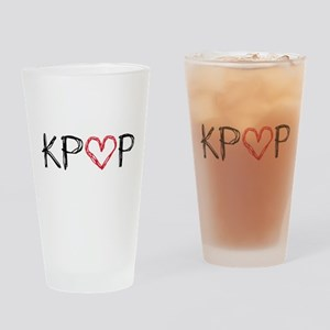 KPOP Love Scribble Drinking Glass