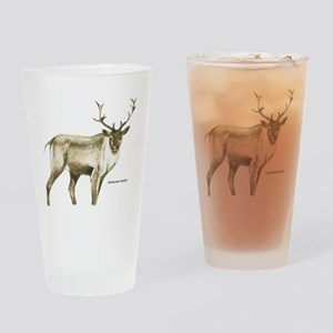Woodland Caribou Animal Drinking Glass
