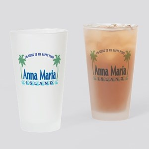 Anna Maria Island-Happy Place Drinking Glass