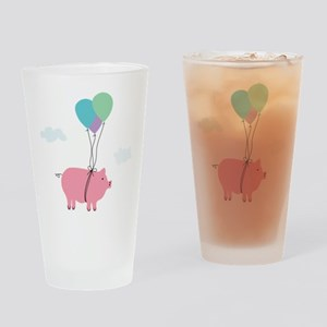 When Pigs Can Fly Illustration Drinking Glass