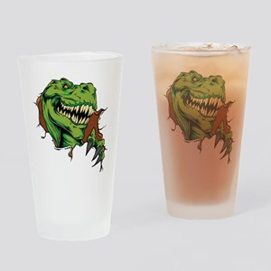 T Rex Rips Drinking Glass