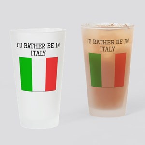 Id Rather Be In Italy Drinking Glass