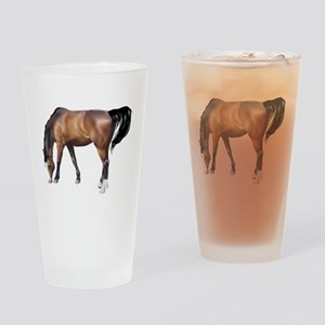 Brown horse art Drinking Glass