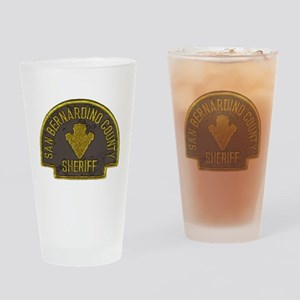 San Bernardino County Sheriff patch Drinking Glass