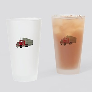 Semi Truck Drinking Glass