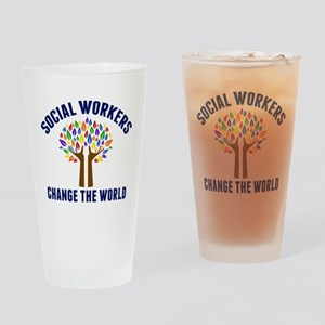 Social Work Quote Drinking Glass