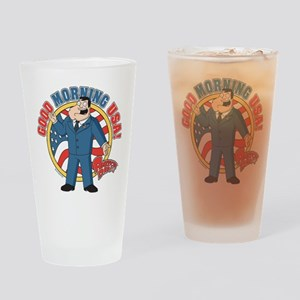 American Dad Stan Good Morning USA Drinking Glass
