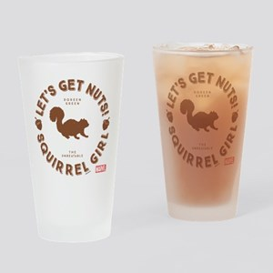Squirrel Girl Let's Get Nuts Drinking Glass