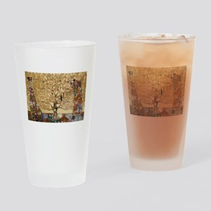 Gustav Klimt Tree Of Life Drinking Glass