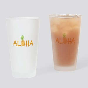 Aloha Pineapple Drinking Glass