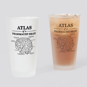 Atlas of a Pharmacist Brain Drinking Glass